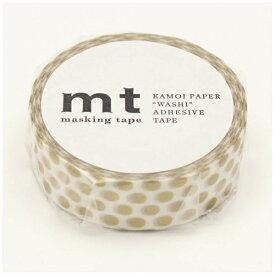 カモ井加工紙 KAMOI mt マスキングテープ mt 1P ドット・金 MT01D365