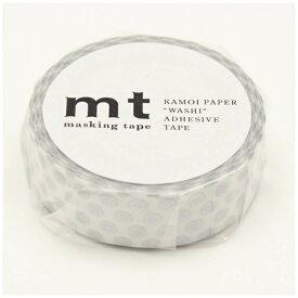 カモ井加工紙 KAMOI mt マスキングテープ mt 1P ドット・銀 MT01D366
