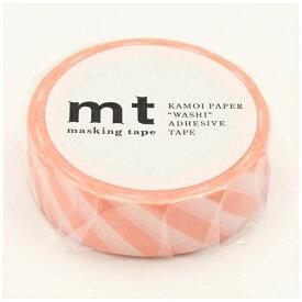 カモ井加工紙 KAMOI mt マスキングテープ mt 1P ストライプ・サーモンピンク MT01D370