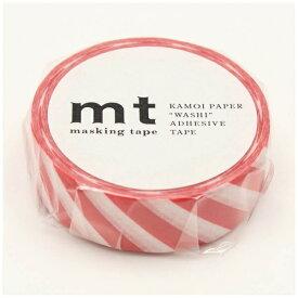 カモ井加工紙 KAMOI mt マスキングテープ mt 1P ストライプ・レッド MT01D371