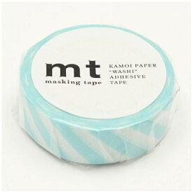 カモ井加工紙 KAMOI mt マスキングテープ mt 1P ストライプ・ミントブルー MT01D373