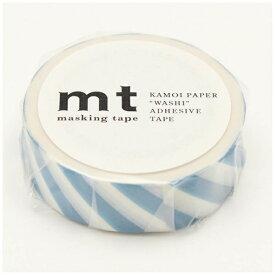 カモ井加工紙 KAMOI mt マスキングテープ mt 1P ストライプ・グレイッシュスカイ MT01D374