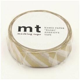 カモ井加工紙 KAMOI mt マスキングテープ mt 1P ストライプ・金 MT01D377
