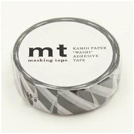 カモ井加工紙 KAMOI mt マスキングテープ mt 1P ストライプ・ブラック MT01D380