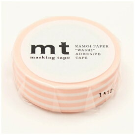 カモ井加工紙 KAMOI mt マスキングテープ mt 1P ボーダー・ピーチクリーム MT01D381
