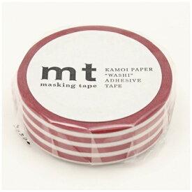 カモ井加工紙 KAMOI mt マスキングテープ mt 1P ボーダー・いちご MT01D382