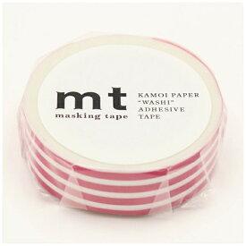 カモ井加工紙 KAMOI mt マスキングテープ mt 1P ボーダー・フランボワーズ MT01D383