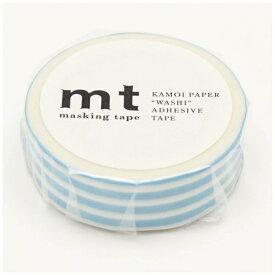 カモ井加工紙 KAMOI mt マスキングテープ mt 1P ボーダー・アイス MT01D384