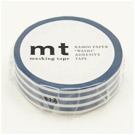カモ井加工紙 KAMOI mt マスキングテープ mt 1P ボーダー・インディゴ MT01D386