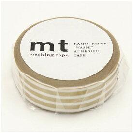 カモ井加工紙 KAMOI mt マスキングテープ mt 1P ボーダー・金 MT01D390