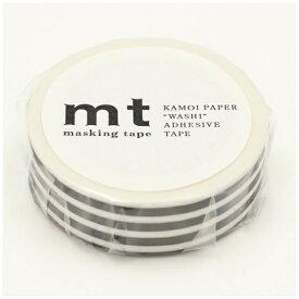 カモ井加工紙 KAMOI mt マスキングテープ mt 1P ボーダー・ブラック MT01D392