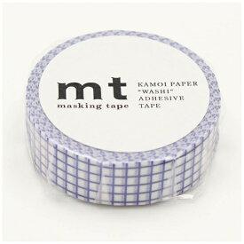 カモ井加工紙 KAMOI mt マスキングテープ mt 1P 方眼・ブルーベリー MT01D396