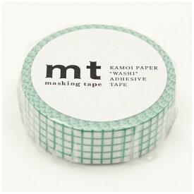 カモ井加工紙 KAMOI mt マスキングテープ mt 1P 方眼・エメラルド MT01D397