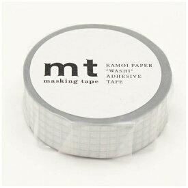カモ井加工紙 KAMOI mt マスキングテープ mt 1P 方眼・銀 MT01D399