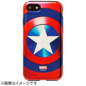 ROOX iPhone 7用 MARVEL Design メタリック ハイブリットケース キャプテンアメリカ ブルー S2BHBDIP7-CBU
