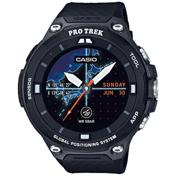カシオ CASIO スマートウォッチ 「Smart Outdoor Watch PRO TREK Smart」 (ブラック) WSD-F20-BK[WSDF20BK]