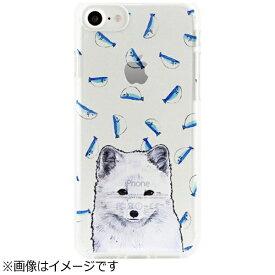 ROA ロア iPhone 7用 ソフトクリアケース アニマルズ ホッキョクギツネ Dparks DS9489i7