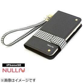 BELEX ビーレックス iPhone SE(第1世代)4インチ用 NULL CHIDORI STRIPE CASE ブラック BLNL-002-BK スタンド機能 ポケット付+ハンドストラップ