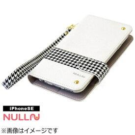 BELEX ビーレックス iPhone SE(第1世代)4インチ用 NULL CHIDORI STRIPE CASE ホワイト BLNL-002-WH スタンド機能 ポケット付+ハンドストラップ