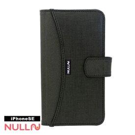 BELEX ビーレックス iPhone SE(第1世代)4インチ用 NULL FASHION WALLET CASE ブラック BLNL-001-BK ポケット付