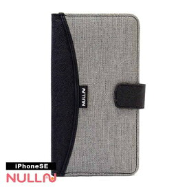 BELEX iPhone SE(第1世代)4インチ用 NULL FASHION WALLET CASE グレー BLNL-001-GY ポケット付