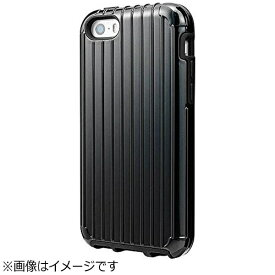 坂本ラヂヲ iPhone SE(第1世代)4インチ / 5c / 5s / 5用 COLORS Rib Hybrid Case ブラック CHC416BK ポケット付