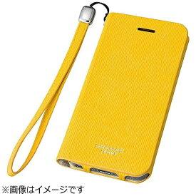 坂本ラヂヲ iPhone SE(第1世代)4インチ / 5s / 5用 レザーケースFEMME Colo Flap Leather Case イエロー FLC226YL ポケット付+ハンドストラップ