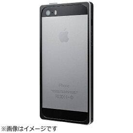坂本ラヂヲ iPhone SE(第1世代)4インチ / 5s / 5用 Straight Metal Bumper ブラック GMB506BK ストラップホール付