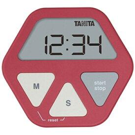 タニタ TANITA デジタルタイマー 「ガラスにつくタイマー」 TD-410-RD レッド[TD410RD]