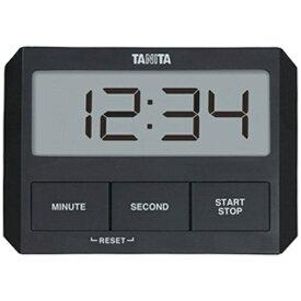 タニタ TANITA デジタルタイマー 「ガラスにつくタイマー」 TD-409-BK ブラック[TD409BK]