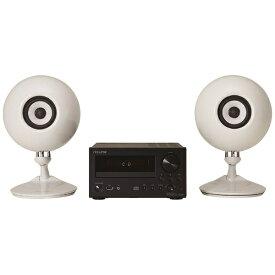 デンソーテン CDレシーバースピーカーパック CDR1+508パックWH(スピーカー2本/ホワイト)[CDコンポ 高音質 CDR1508パックWH]