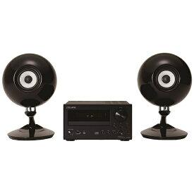 デンソーテン CDレシーバースピーカーパック CDR1+508パックBK(スピーカー2本/ブラック)[CDコンポ 高音質 CDR1508パックBK]