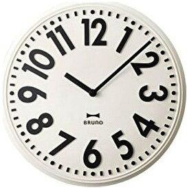 イデアインターナショナル IDEA INTERNATIONAL 掛け時計 エンボスウォールクロック ブルーノ(BRUNO) ホワイト BCW013-WH