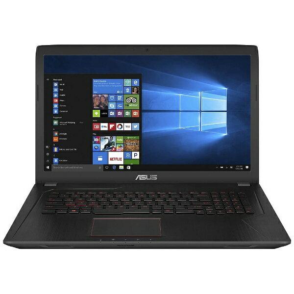 【送料無料】 ASUS 15.6型ゲーミングノートPC[Win10 Home・Core i5・SSD 256GB・メモリ 8GB] ASUS FX553VD ブラックメタル FX553VD-FY381T (2017年4月モデル)[FX553VDFY381T]