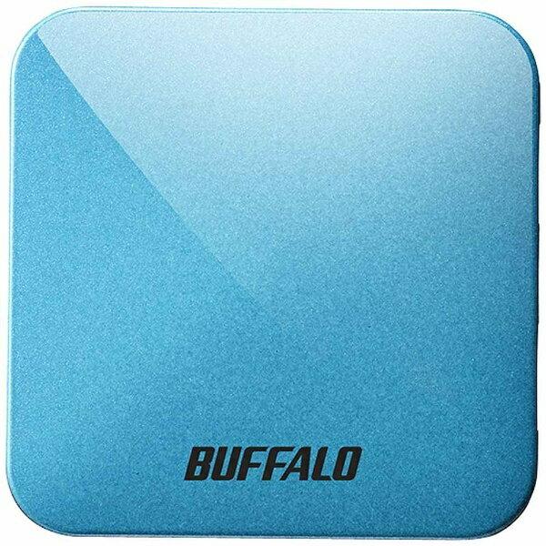 BUFFALO 無線LANルーター(Wi-Fiルーター) 親機単体[無線ac/n/a/g/b・有線LAN・Mac/Win/Android/iOS] 433+150Mbps トラベルルーター AirStation ターコイズブルー WMR-433W-TB