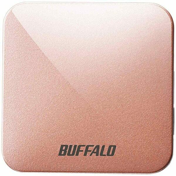 BUFFALO 無線LANルーター(Wi-Fiルーター) 親機単体[無線ac/n/a/g/b・有線LAN・Mac/Win/Android/iOS] 433+150Mbps トラベルルーター AirStation ピンクゴールド WMR-433W-PG