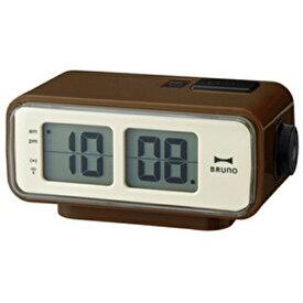 イデアインターナショナル IDEA INTERNATIONAL LCDレトロアラームクロック S BRUNO(ブルーノ) ブラウン BCR003-BR [デジタル /電波自動受信機能有]
