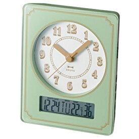 イデアインターナショナル IDEA INTERNATIONAL 電波置き時計 電波カレンダー温湿クロック ブルーノ(BRUNO) BCR015-GR [電波自動受信機能有]