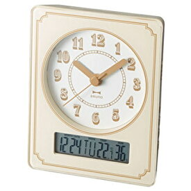 イデアインターナショナル IDEA INTERNATIONAL 電波置き時計 電波カレンダー温湿クロック ブルーノ(BRUNO) BCR015-IV [電波自動受信機能有]