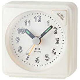 イデアインターナショナル IDEA INTERNATIONAL 目覚まし時計 「ミニアラームクロック」 BRUNO(ブルーノ) ホワイト BCA003-WH [アナログ]