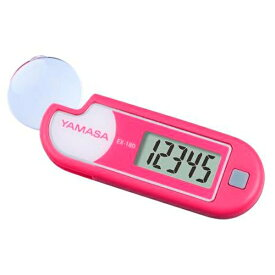 山佐時計計器 YAMASA EX-180P 歩数計 ルーペ付きポケット万歩 ピンク [装着フリー][EX180P]