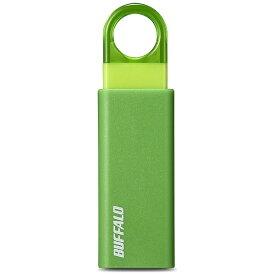 BUFFALO バッファロー RUF3-KS16GA-GR USBメモリー USB3.1/3.0/2.0対応 16GB ノックスライド式 オートリターン機能搭載 RUF3-KSAシリーズ グリーン [16GB /USB3.1 /USB TypeA /ノック式][RUF3KS16GAGR]