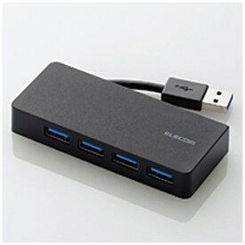 エレコム ELECOM U3H-K417B USBハブ ブラック [USB3.0対応 /4ポート /バスパワー][U3HK417BBK]