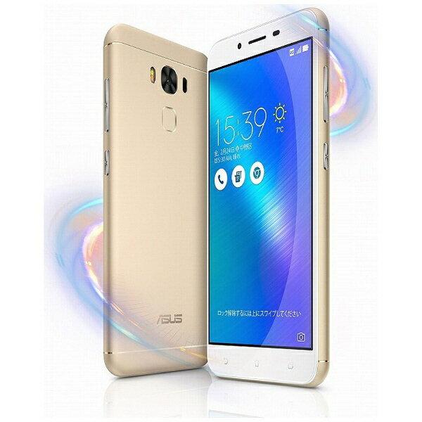 【送料無料】 ASUS Zenfone 3 Max ゴールド「ZC553KL-GD32S3」・Android 6.0.1・5.5型ワイド・メモリ/ストレージ:3GB/32GB・microSIM×1 nanoSIM×1・SIMフリースマートフォン[ZC553KLGD32S3]