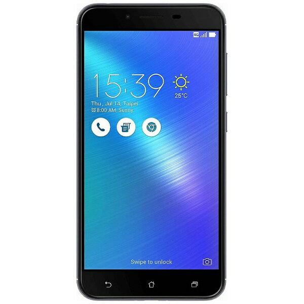 【送料無料】 ASUS Zenfone 3 Max グレー「ZC553KL-GY32S3」・Android 6.0.1・5.5型ワイド・メモリ/ストレージ:3GB/32GB・microSIM×1 nanoSIM×1・SIMフリースマートフォン