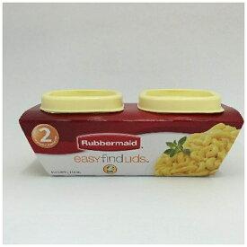 ラバーメイド Rubbermaid 食品保存容器2個セット 「イージー ファインド リッド」(118ml) FG7J55APYEL イエロー[FG7J55APYELイエローイージー]