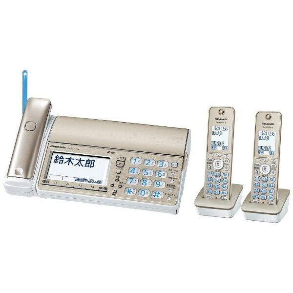 【送料無料】 パナソニック Panasonic 【子機2台付】デジタルコードレス普通紙FAX 「おたっくす」 KX-PZ710DW-N (シャンパンゴールド)[KXPZ710DWN] panasonic