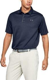 アンダーアーマー UNDER ARMOUR メンズ ゴルフポロシャツ テックポロ(XLサイズミッドナイト×グラファイト×グラファイト)1290140