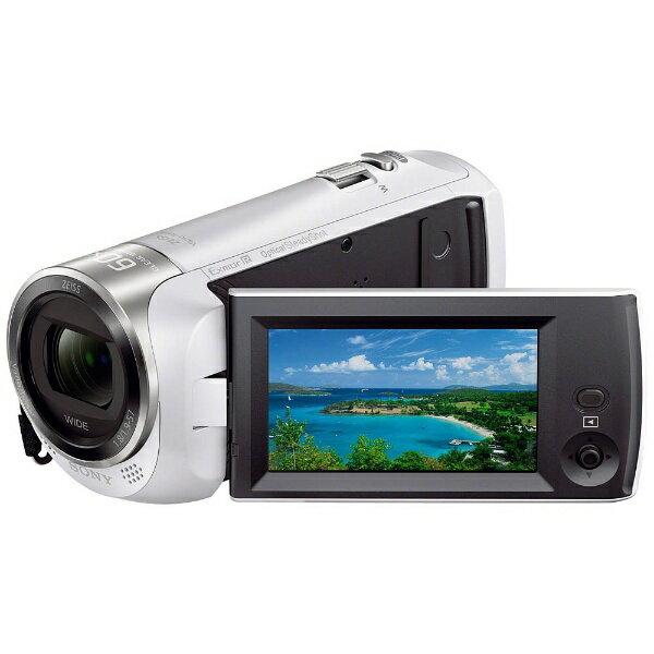 【送料無料】 ソニー SONY メモリースティックマイクロ/マイクロSD対応 32GBメモリー内蔵 フルハイビジョンビデオカメラ(ホワイト) HDR-CX470 W[HDRCX470W]
