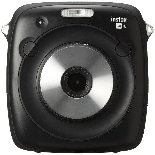 【送料無料】 フジフイルム FUJIFILM ハイブリッドインスタントカメラ 『チェキ』 instax SQUARE SQ10(ブラック)【SQ10】 [INSSQUARESQ10]